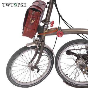 Twtopse S Vélo Bicycle Biccle Sacs En Cuir pour BRompton Bicycle Biccle Cargo Porte-Carrouille Voyant Vélo Light Vélo Partie Accessoire 201116