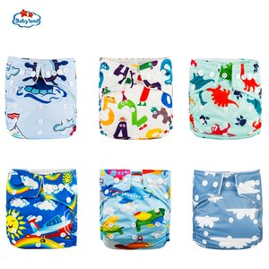 30% Discount Promotion New Babyland Reusable Diapers 6pcs Set ECO-Friendly Cloth Nappy Cover Washable Pocket Diaper Pants China 201020