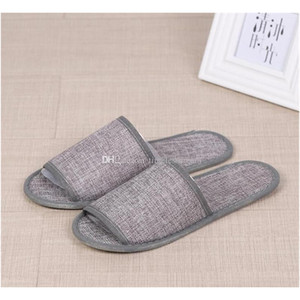 Cotton Linen Disposable Slippers Anti-slip Travel Hotel Spa Home Guest Shoes Colorful One-time Sandals Breat jllpIF sport77777