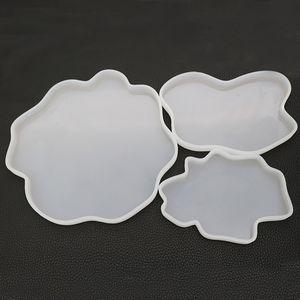 Akik Geode Altlıkları Silikon Kalıplar Epoksi Reçine Kalıp Drinkware Coaster kalıpları DIY hazırlama Resinart 3 Boyut