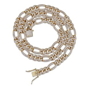Chain Cuba Chain Men's Necklace with Micro Zircon Insert New Hip Hop Necklace Hot Selling In Europe and America