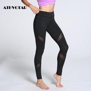 Athvotar Kadınlar Siyah Tayt Mesh Spor Yüksek Bel Spor Tayt Push Up Egzersiz Legging Pantolon Kadın1