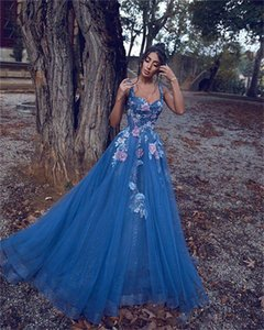 2021 A Line Prom Dresses Plunging Neck Bling Sequined Lace Arabic Evening Dress Custom Made Formal Cocktail Party Gowns