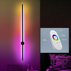 Nordic Colorful Wall Lamp Led RGB Dimming Wall Lights Lighting Living Room Home Decor Modern Bedroom Lamp Sconces Indoor