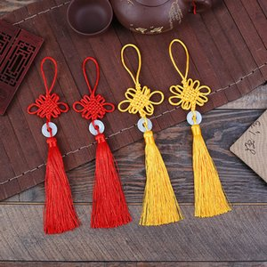 10Pcs   lot New Year Christmas Home Decorations Traditional Red Chinese Lucky Knots Hanging Gifts for Car Office Home FestivaL Decor