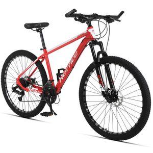 27,5-Zoll-24-Gang-Mountainbike hochfester Aluminiumlegierungsrahmen mit erwachsener Reparaturwerkzeuge und -pumpe (brillantes Rot)
