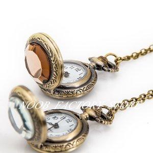 Neue Quarzweinlese Kleine Glasgesicht Retro Flip Tasche Halskette Pullover Kette Mode Mode Uhren Geschenkuhr