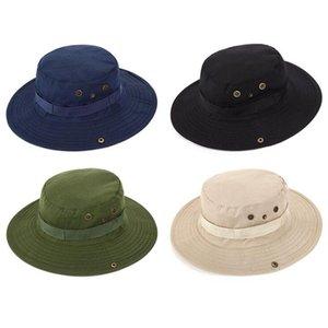 Fisherman Hats Outdoor Cap Fishing Sun Hats Bump Summer Wide Brim Hats Man Round Lace Caps Camping Mountaineering Sunscreen Hat NWD2156