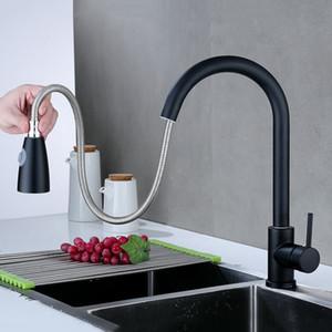 Grifo de Acero Inoxidable 360º de rotación Retirada aerosol Boquilla con dos modos de flujo de agua limpia Esquinas Fácil Accesorios de Cocina