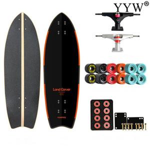 DIY Complete Land Carver Skateboard Single Kicktail Skate Board Road Sliding Surf Pumping 78x23x12cm 4 SHR Wheels Smooth Outdoor