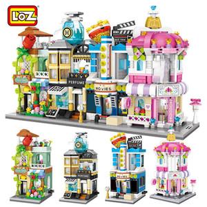 Loz Mini Blocks City View Scène Cinéma Détail Store Candy Shop Architectures Modèles Blocs de construction Jouet de Noël pour Childrengq1