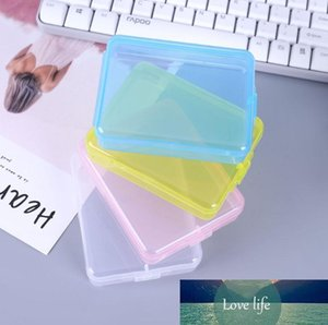 Plastic Storage Containers Rectangle Mask Case Empty Transparent Make up Organizers Package Portable Mascarilla jewelry Boxes SN1482
