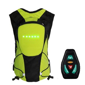 New Wireless Remote Control LED Turn Signal Light Backpack Safety Bicycle Warning Guiding Riding Bag