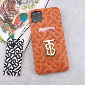 Designer Phone Cases for iphone12 12promax mini 11 Case Brand Luxury phone Cover slot card for iphone XS Max XR 7 8 plus Back Cover note20 8