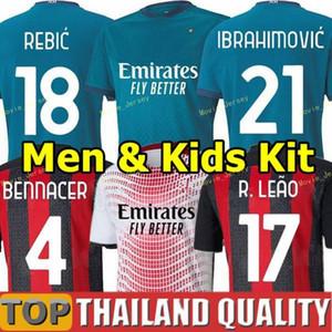 2020 2021 IBRAHIMOVIC TONALI AC Milan soccer jersey LUKAKU man kids kit REBIC BENNACER THEO football shirts Camisa
