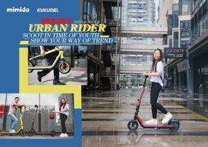 Kukudel Light Srong Electric Scooter Foldable Kick Scooter 25km / h 밸런스 폴딩 프론트 및 리어 이중 충격 - 전기 스쿠터 흡수