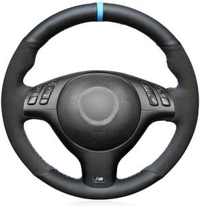 DIY Черная кожа замша на заказ чехлы рулевого колеса для BMW E46 E39 330i 330Ci 525i 530i 540i M3 Аксессуары 2001 2012 2003