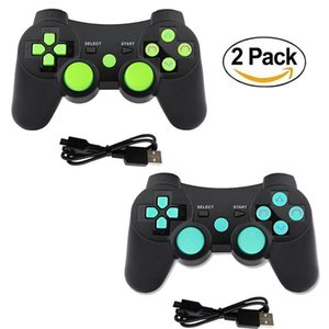 K Ishako Free Shipping Double Shock Remote Gamepad 2packs Bluetooth Controller Gamepad For Playstation3 sqcpfN bdejewelry