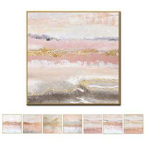 Duvar Resimleri Tuval Wall Art Dekor Oyma Paintings Ücretsiz Gemi Boyama Yeni Soyut El Boyalı Çerçevesiz% 100 El