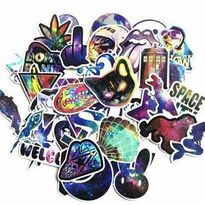 Portátil cielo estrellado 42pcs animado dibujos animados etiquetas engomadas Galaxy Paquete Kid juguetes Álbum de recortes libro divertido impermeable etiqueta de juguete clásico bbyBAo