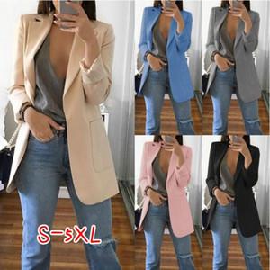 2019 otoño e invierno nueva moda ladies traje solapas slim cardigan temperamento moda traje chaqueta hembra