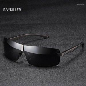 Raykiller Aluminium Mens Lunettes de soleil Polarisée Lunettes de soleil Pêche Eyewear Mirectrice Lens Uv400 Protection en plein air avec cas1