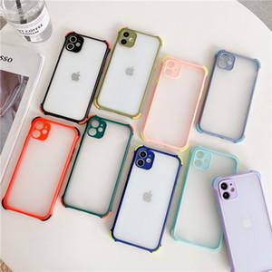 Корпус Матовый Clear Подушка безопасности противоударный телефон Обложка для iphone 7 8 6S Plus 11 Pro Max XR XS Max Case Soft TPU матовый