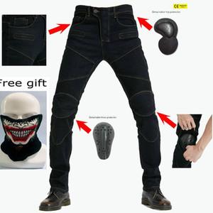 Pantalons Mototourisme Moto Jeans Pantalons Pantalon Motocross protective Racing Jeans avec maille 4 genou Hip Pads PK718