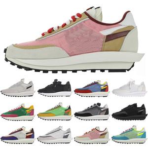 Sacai x   LDV Zapatos nueva Sacai LDV Waffle alba capacitadores para la moda Hombres Mujeres Breathe Tripe S zapatillas de deporte corrientes de los deportes tamaño de los