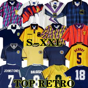 1986 1995 2000 İskoçya Retro Futbol Jersey Klasik 96 98 Dünya Kupası Ekipmanları Ev Mavi Kitleri 1996 1998 89 90 91 Vintage Futbol Gömlek 78 82