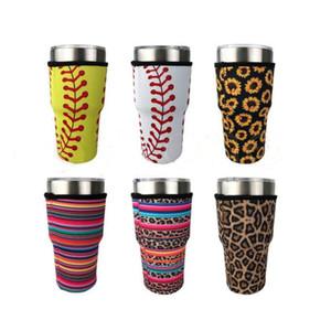 Держатель Tumbler Cover Bags Sceed Coffee Cup Coзначный рукав неопреновые изолированные рукава кружки чашки для воды крышка бутылки с ремешком 15 стилей 30oz HWB2908
