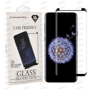 Case Wriends مقسى الزجاج ل Samsung Galaxy S20 S9 ملاحظة 20 Ultra 10 S8 PLUS PRO 3D النسخة المنحنية حامي الشاشة مع حزمة البيع بالتجزئة