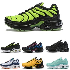 TN 2019 Kids Runnin Shoes tn enfant Breathable Soft Sports Chaussures Boys Girls Tns Plus Sneakers Youth requin Trainers Size 28-35