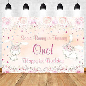 Mehofoto Happy 1st Birthday Photo Background Flower Backdrop Party Banner Gift for Baby Lovely Orange Theme Princess1