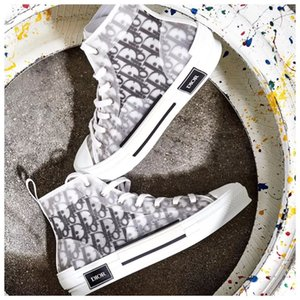 News Díòr ÁJ1 Kanye Oblique B23 Slipper High Top Sports Low KÁWS Kím Jònés Hommes Femme Chaussures Basketball Sneakers Men Shoes 36-45