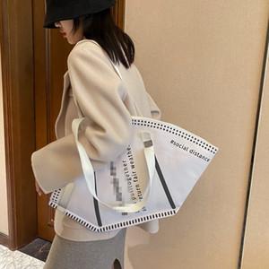 Design Creative Masks Shape Shoulder Bag Large-Capacity Fashion Environmental Protection Handbag Clothes Storage Bags Gifts LJJK2509-1