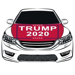 Hood Cover Election Car Hood Cover Flag 100% Spandex High Quality Fabric Campaign Banner Trump Hood Flag Party Supplies ZZC1213