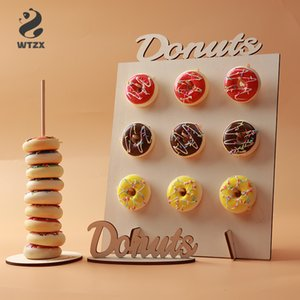 Wedding Decoration Donut Wall Donuts Wooden Stand Donut Holder Baby Shower Box Kids Birthday Party Decor DIY Donut Party Supply
