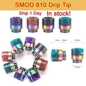SMOD 810 drip tip Rainbow Shape long Epoxy Resin TFV8 Drip Tip fit TFV8 Big Baby TFV12 Prince 810 Atomizers