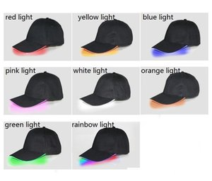 Factory Sale LED Luminous Baseball Caps Shining LED Light Party Cap Adjustable Snapback Hats Luminous Party Hats Supplies CF749