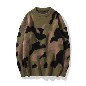 2020 neue Herbst-Winter-Baumwoll-Pullover Männer Pullover beiläufige Pullover Männer Strick starker warmer Tarnung Artmens Pull Pullover