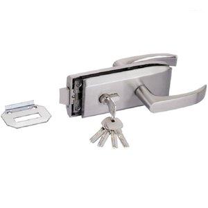 유리 도어 잠금 장치 w 키 스윙 도어 및 슬라이딩 알루미늄 프레임리스 유리 잠금, 높은 파티션 Lock1