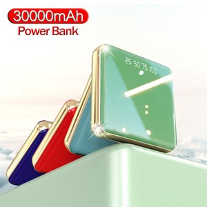 30000MAh Power Bank Mini Portable Phone Charger for Xiaomi iPhone Samsung and Smartphones Outdoor Travel Powerbank LED Lighting Free