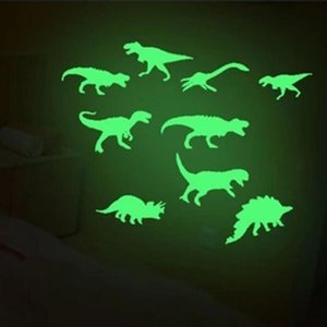 9Pcs Light Wall Sticker Home Decor Fluorescence Glow In The Dark Dinosaurs Toys Stickers Ceiling Decal Baby Kid Room Luminous