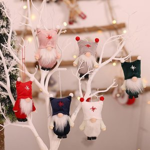 Christmas Gnome Santa Doll Hanging Pendant Home Party Xmas Tree Ornament Decor Drop Ornaments Christmas Pendant jllYMO carshop2006
