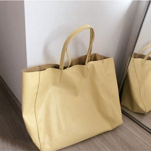 Simple Ladies Fashion Shoulder Bags Female Solid Color Large Capacity Tote Bags PU Leather Women Trend Casual Handheld Bags OWA1701