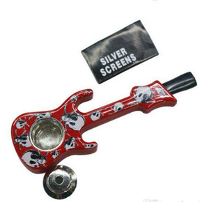 Smoking Pipes Tabacco Pipes Metal Tobacco Cigarette Holder Shisha Hookah Smoking Accessories Assort Guitar Shape DDE4613