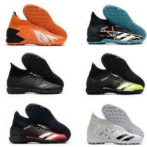 2020 Predator 20.3 Laceless Yüksek Bilek Mens TF Futbol Boots Çim Futbol Profilli Eğitmenler Spor Deri Kapalı Çorap Futbol Ayakkabı