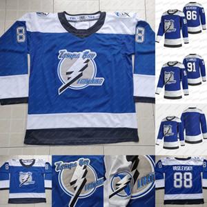 2021 Retro Retro Hockey Jersey Tampa Bay Lightning 86 Nikita Kucherov 91 Steven Stamkos 100% Stichec Eishockey Jerseys S-XXXL