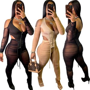 womens sportswear long sleeve sexy shirt legging 2 piece set tie-dye Casual outfits jacket pants tracksuit bodycon sportsuit 6045